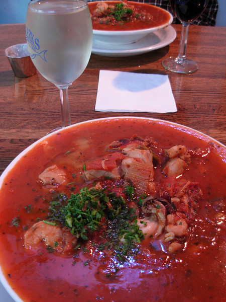 Shark's Cioppino - our favorite restaurant in our favorite town - Newport, Oregon<br /> Photo © Cindy Clark