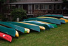 Rental boats await guests at Lake Quinault Lodge, Washington.<br /> Photo © Cindy Clark