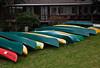 Rental boats await guests at Lake Quinault Lodge, Washington.<br /> Photo © Cindy Clark