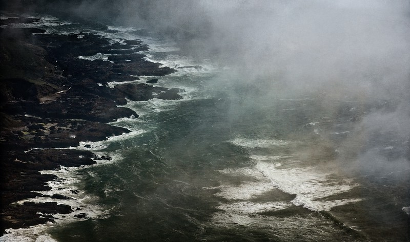 The headlands at Cape Perpetua on the Oregon Coast were formed by lava flowing 50 million years ago.<br /> Photo © Cindy Clark