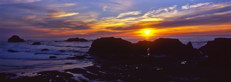 Lush colors conclude the day at Bandon - Oregon Coast.<br /> Photo © Carl Clark