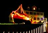 The U.S. Coast Guard station in Newport, Oregon decked out for the holidays!<br /> Photo © Cindy Clark