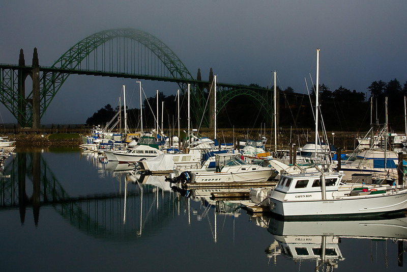Did I mention this is our favorite town?  Newport Marina, Oregon.<br /> Photo © Cindy Clark