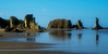 Beautiful morning walk on the beach at Bandon, Oregon.<br /> Photo © Cindy Clark