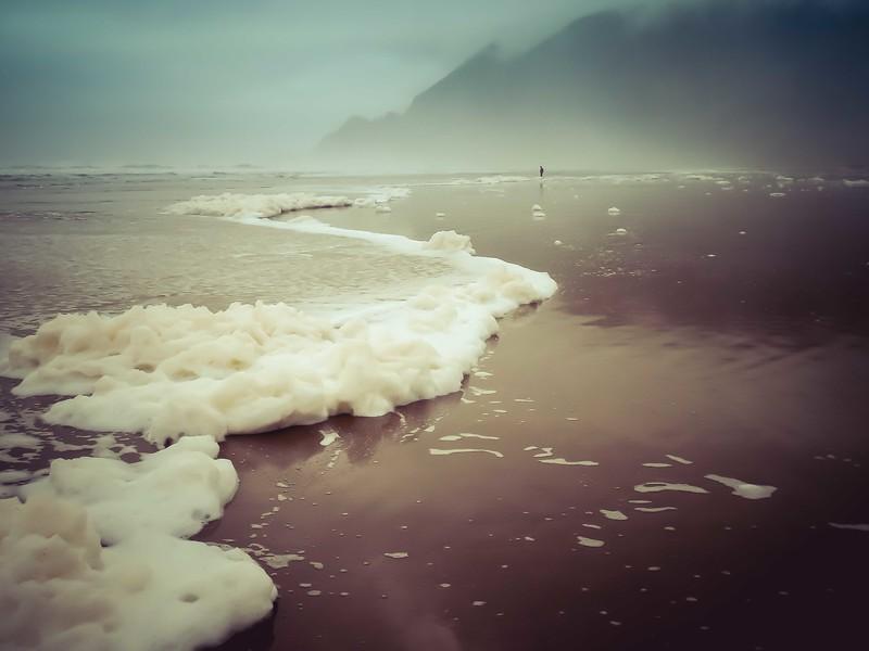 Chilly January scene near Manzanita, Oregon.<br /> Photo © Cindy Clark