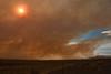 A late summer wildfire near Hanford, Washington.<br /> Photo by Cindy Clark