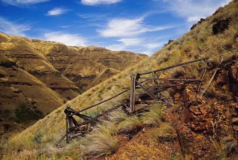 Unusual hills near Rattlesnake Pass in eastern Washington.<br /> Photo by Cindy Clark