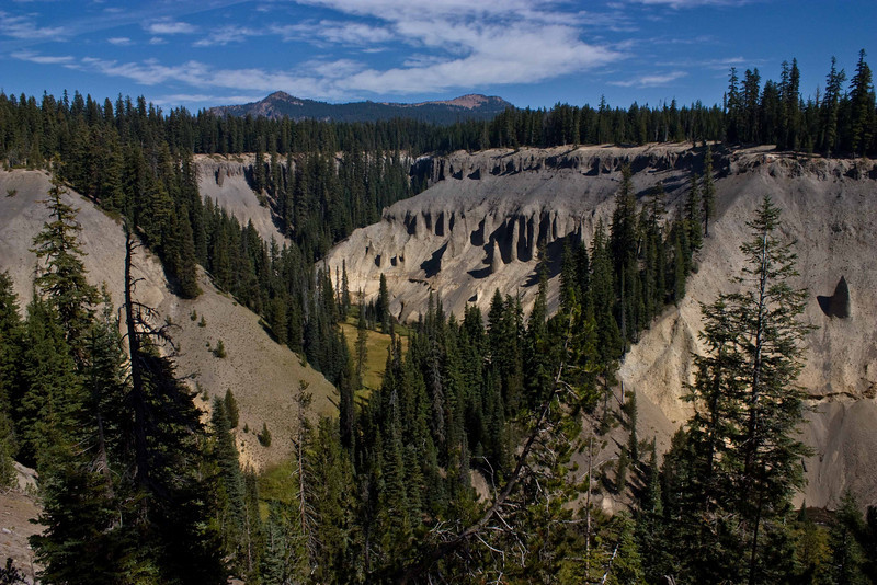 Ancient erosion from Sun Creek, south of Crater Lake.<br /> Photo © Carl Clark