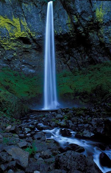 Elowha Falls in the Columbia River Gorge - Oregon.<br /> Photo © Carl Clark