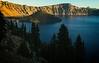 Morning sun on Wizard Island, Crater Lake<br /> Photo © Cindy Clark