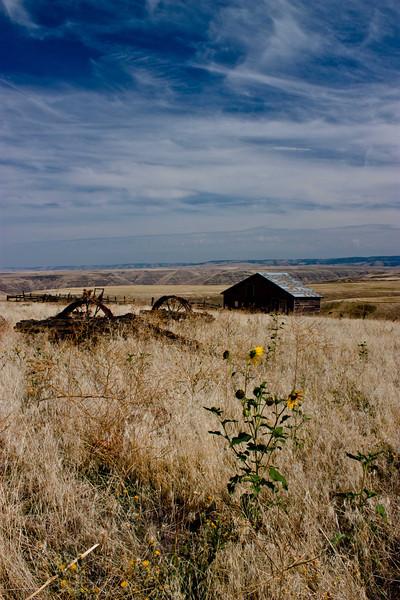 Abandoned farm in Asotin County in Southeast Washington.<br /> Photo © Carl Clark