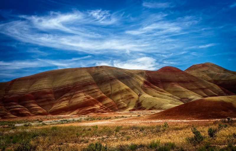 The Painted Hills in central Oregon.<br /> Photo © Cindy Clark
