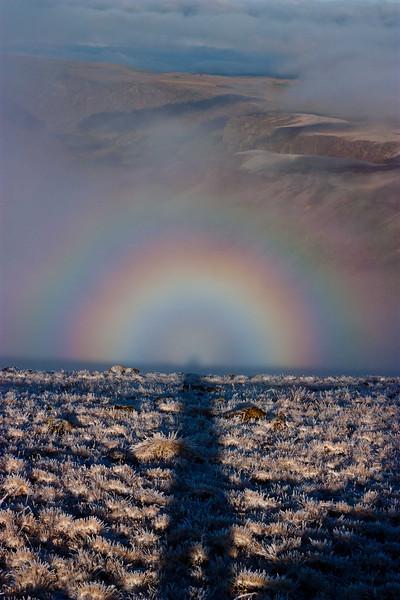Specter of the Brocken (from the German, Brockengespens) near the Summit of Steens Mt - Oregon.<br /> Photo © Carl Clark