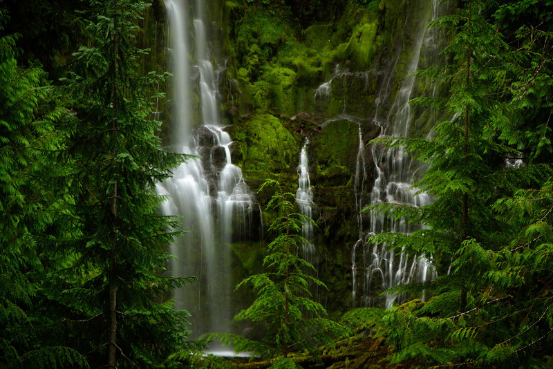 Proxy Falls is located on the McKenzie Pass Highway in Oregon.<br /> Photo © Cindy Clark