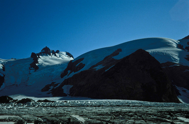 Looking back across the Blue Glacier at Mt Olympus after the descent - Washington Olympic Mts.<br /> Photo © Carl Clark
