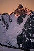 The Price Glacier below the sharp summit of Mt Shuksan. Washington Cascades.<br /> Photo © Carl Clark