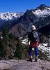 Enjoying the solitude and the view at Gothic Basin - Washington Cascades.<br /> Photo © Carl Clark