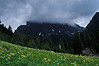 Mt Mystery lives up to its name - Washington Olympic Mts.<br /> Photo © Carl Clark