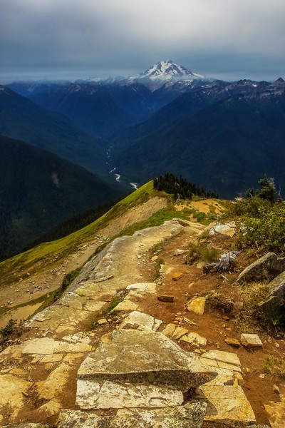 A hike up Green Mountain in August rewarded us with this view of Glacier Peak. <br /> Photo © Cindy Clark