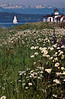 Sailing past the West Point lighthouse in Seattle.<br /> Photo © Carl Clark