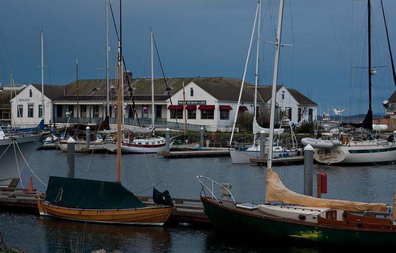 Marina at Port Townsend, Washington.<br /> Photo © Cindy Clark