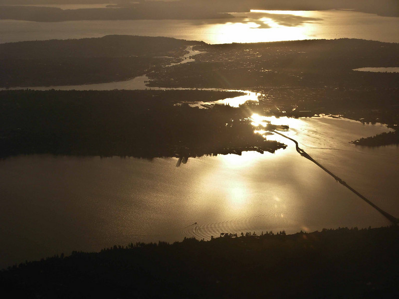 Lake Washington draining to Puget Sound in Seattle.<br /> Photo © Carl Clark