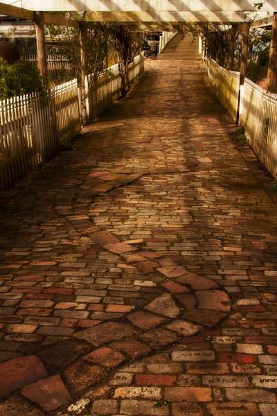 Follow the yellow brick road in Roche Harbor on San Juan Island.<br /> Photo © Cindy Clark