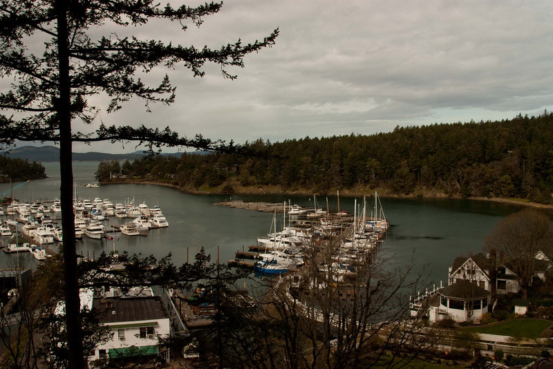 Overlooking Roche Harbor on San Juan Island in Puget Sound.<br /> Photo © Cindy Clark