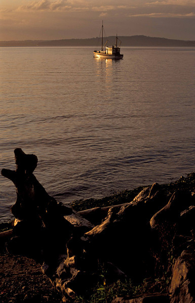 The Vitus moored off Lincoln Park in Seattle.<br /> Photo © Carl Clark