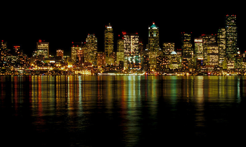 Seattle by night.<br /> Photo © Cindy Clark