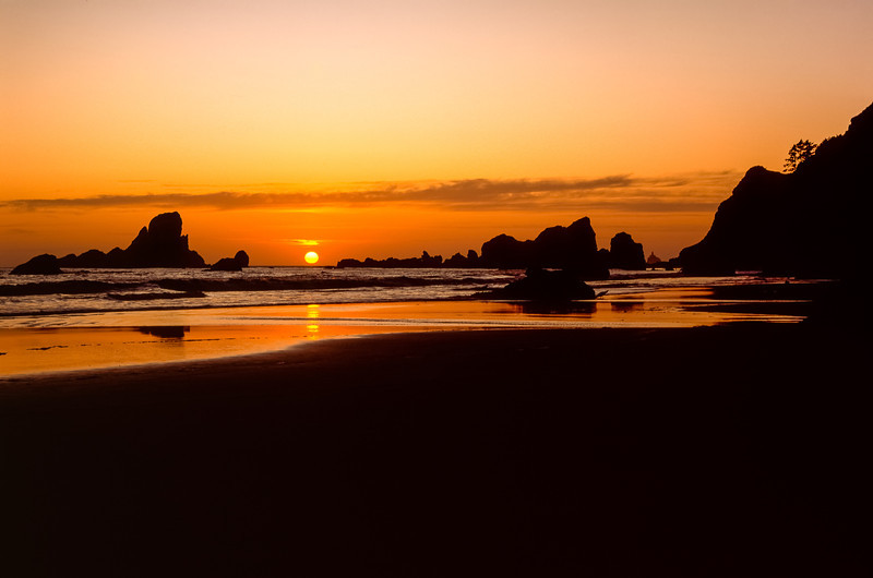 Sunset, Ecola State Park