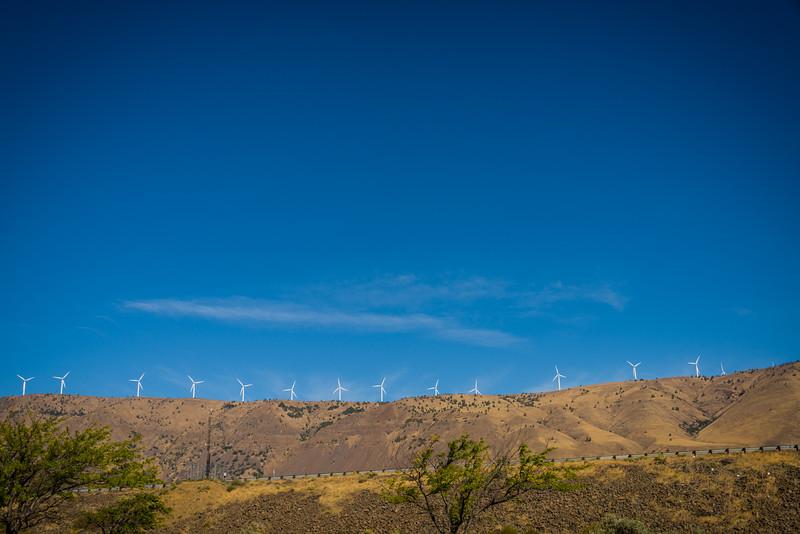 Windmills Columbia Gorge