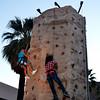 Climbing a Rock Wall ini Palm Springs