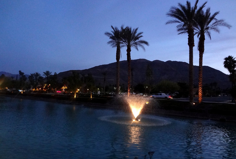 Fountain at The River in Palm Springs CA