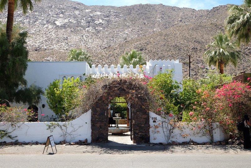 Entrance to the Korakia Inn in Palm Springs California