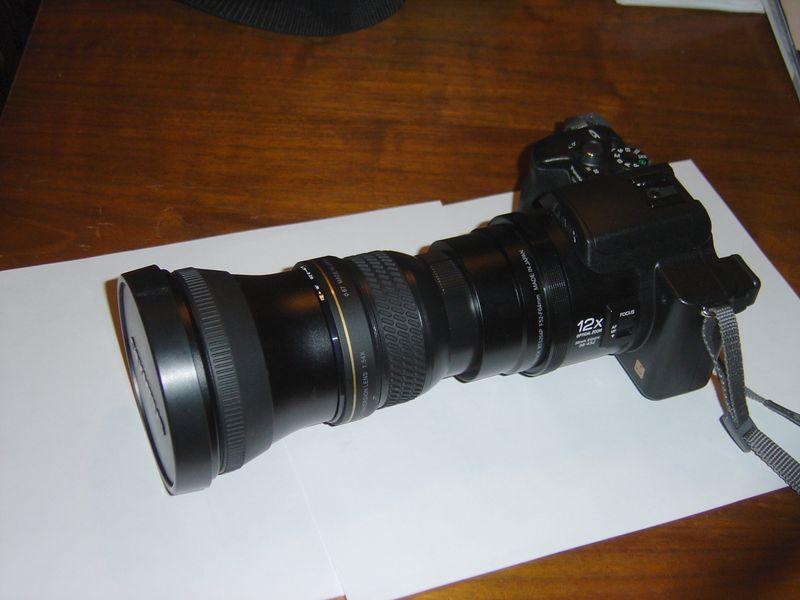 Panasonic FZ20 + Raynox DCR 1540 Pro + Olympus TCON 14B<br /> 2.23x X 12x = 26.76 optical or 964mm (35mm equivalent)