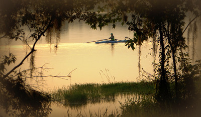 Early morning on Lake Henderson