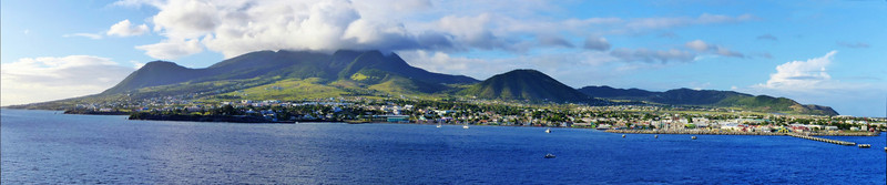 Panoramic View of St. Kitts