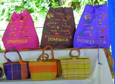 Crafts for sale on Dominica
