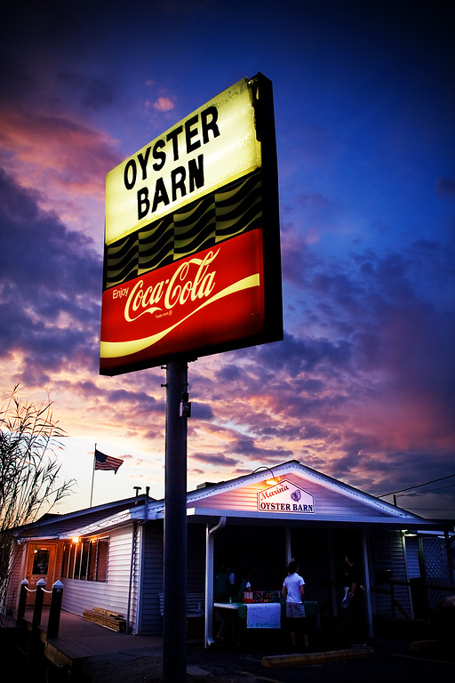 Oyster Barn at Night