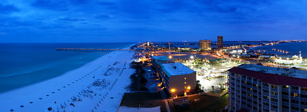 Pensacola Beach from Above, Night