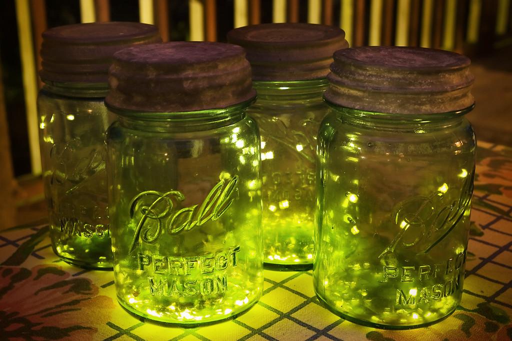 Fireflies in Mason Jars