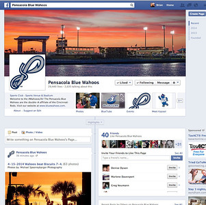 Pensacola Blue Wahoos Cover Photo