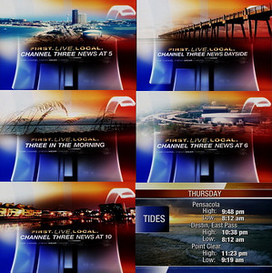 Stills of images used in Channel 3 News Opens.