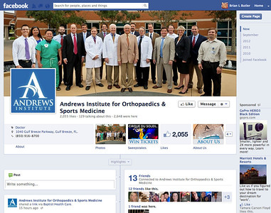 Shot Dr. James Andrews and a group of docs from the Andrews Institute.