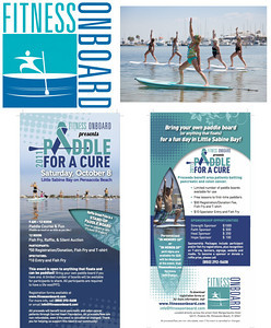 "Images for Fitness Onboard ""Paddle for a Cure"" website and rack cards."