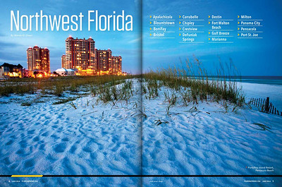 Florida Trend Magazine. Two page spread for a feature on Northwest Florida.