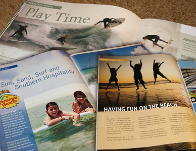 The Pensacola Bay Area Visitor's guide features several Panhandlin' images.