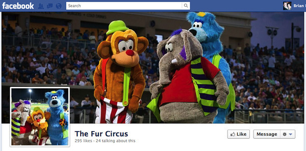 Promo shots for the Fur Circus traveling mascot group.