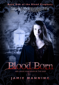"Book Cover shoot and design for the YA vampire book ""Blood Born"" by Jamie Manning."
